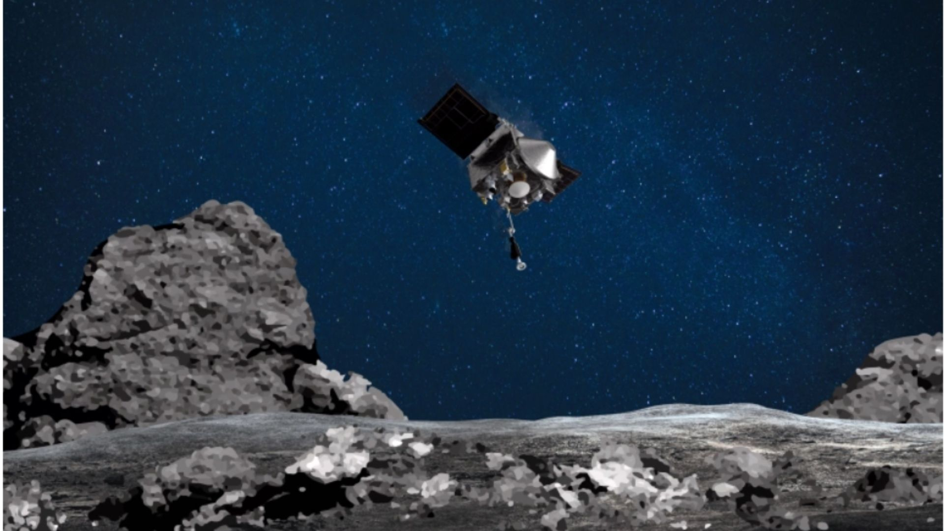 NASA-ს ხომალდმა ასტეროიდიდან ქვის ნიმუშების მოპოვება შეძლო
